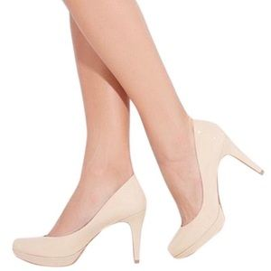 VINCE CAMUTO Zella Nude Patent Leather Heels 8.5